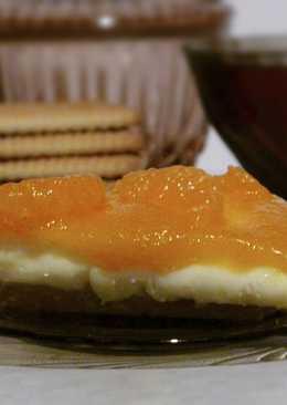 Новогодний мандариновый чизкейк без запекания