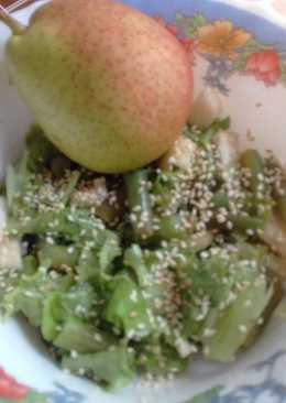 Салат с зелёной фасолью и грушами
