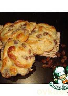 Сладкие ленивые булочки с заварным кремом