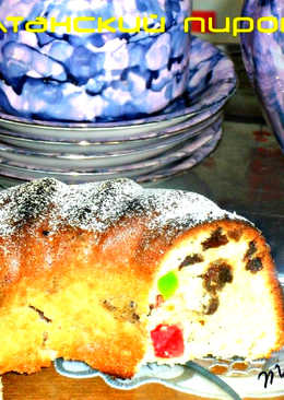 """Кекс с изюмом и цукатами к празднику Пасхи (""""Султанский пирог"""")"""