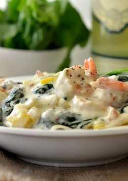 Морепродукты в сливочном соусе - рецепт с фото