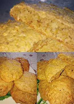 Овсяное печенье на кефире с арахисом и кунжутом