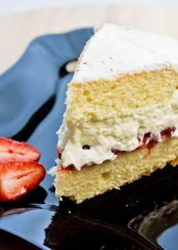 """Бисквитный торт """"Королева Виктория"""", домашний вариант"""