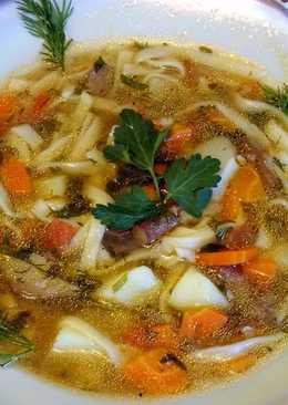 Грибной суп - лапша (постный)