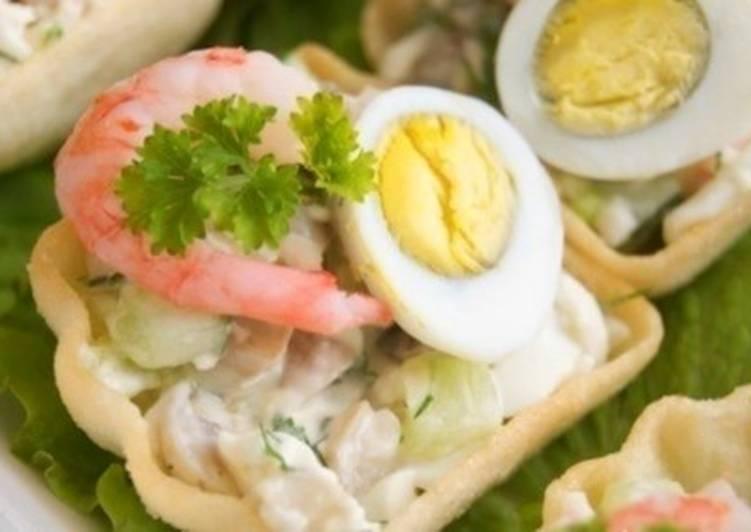 Закуска с грибами «Грездо креветки»