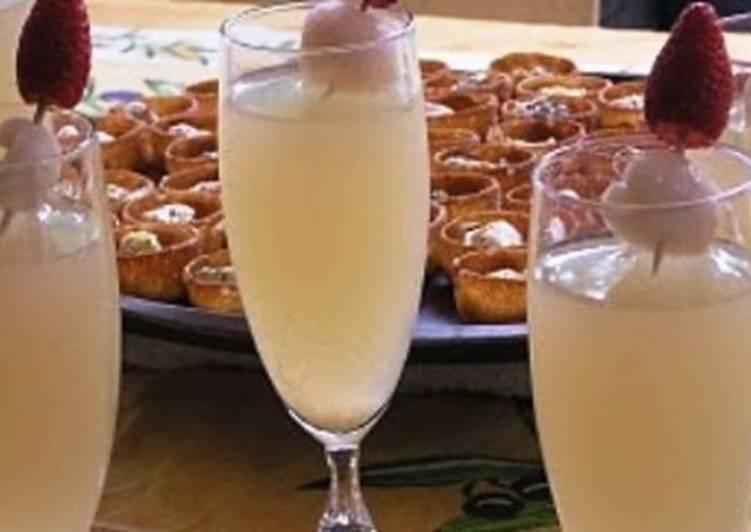 Коктейль с водкой «Имбирное шампанское»