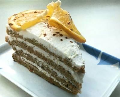 Диетический морковний торт