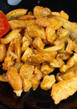 """""""Голодный Папа""""- Мясное рагу с грибами и фасолью"""