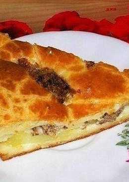 Быстрый пирог на кефире со сметаной - оооочень вкусно