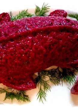 Салат на Новый Год. Необычная селедка под шубой желейная. В форме рыбы
