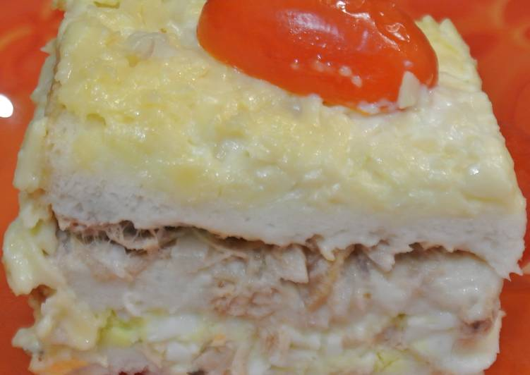 Закусочный торт с тунцом и сыром. Ну Оочень вкусно и просто