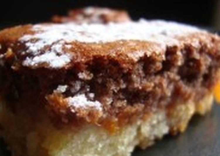 Абрикосовый кекс-пирог двухслойный