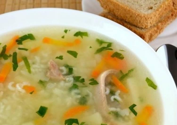 Домашний суп с уткой