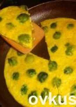 Сырный омлет с брюссельской капустой
