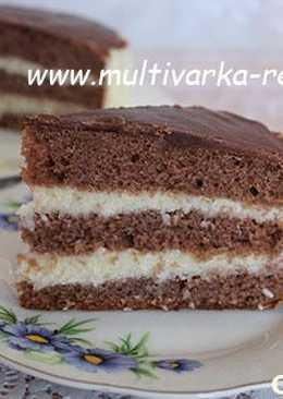 Торт шоколадный с кокосовым кремом в мультиварке