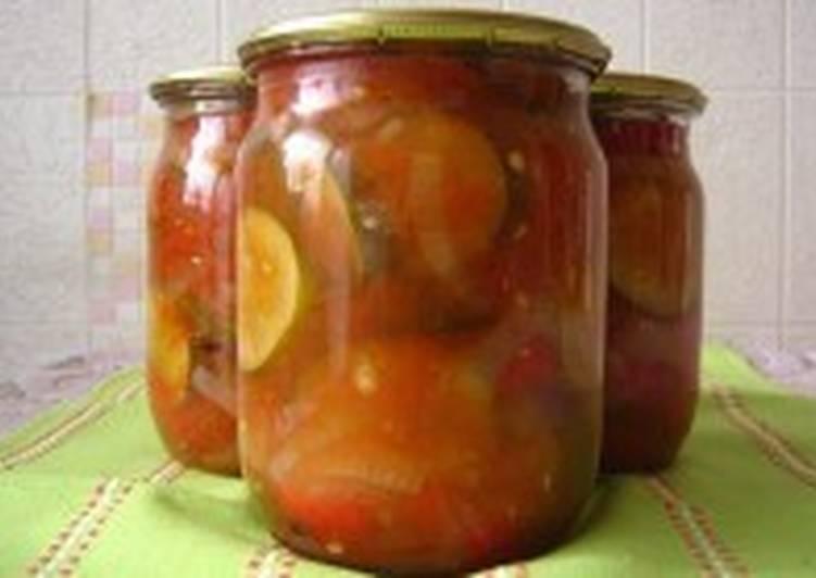 Салат из огурцов, помидоров и перца «Острый»