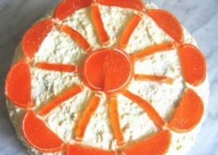 Торт «Солнечный круг» с творожным кремом
