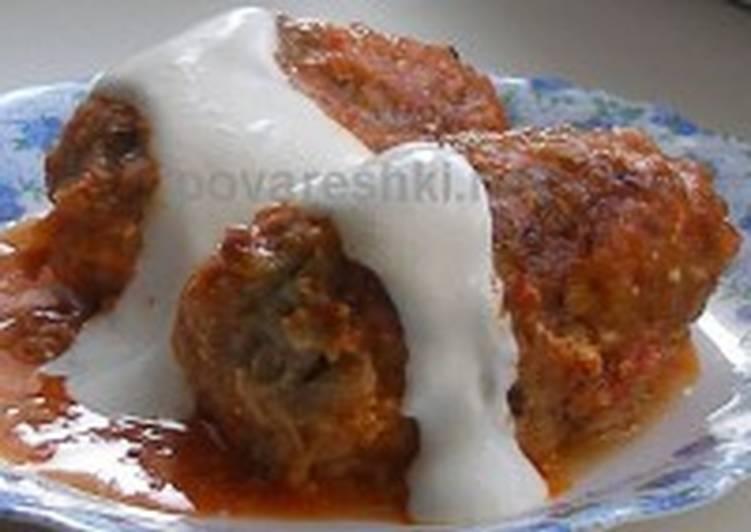 Голубцы с мясом и сыром