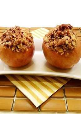 Еще один отличный перекус - запеченные яблоки с овсянкой