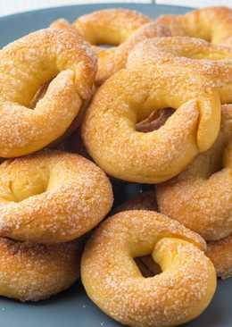 Домашнее печенье Сахарные колечки