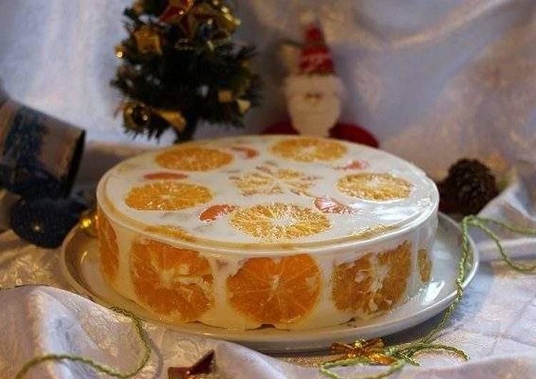 Желейный торт «Новый год»