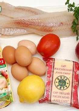 Рыба, запеченая в духовке под сыром