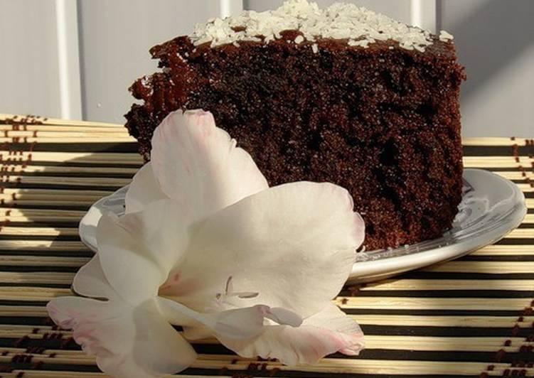 Бисквит «Шоколад на кипятке» в мультиварке