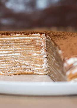Нежный блинный торт а-ля Тирамису