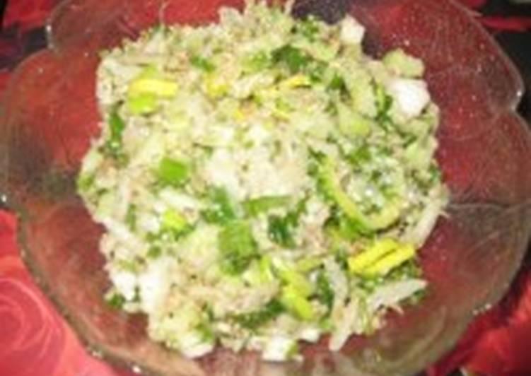 Салат из макарон, фасоли и грецких орехов