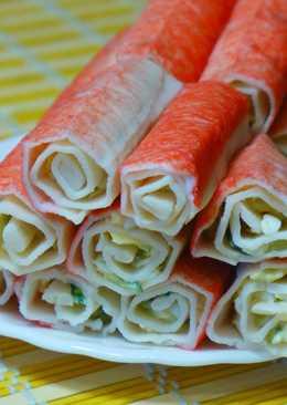 Идеальная закуска за 15 минут ! Фаршированные крабовые палочки