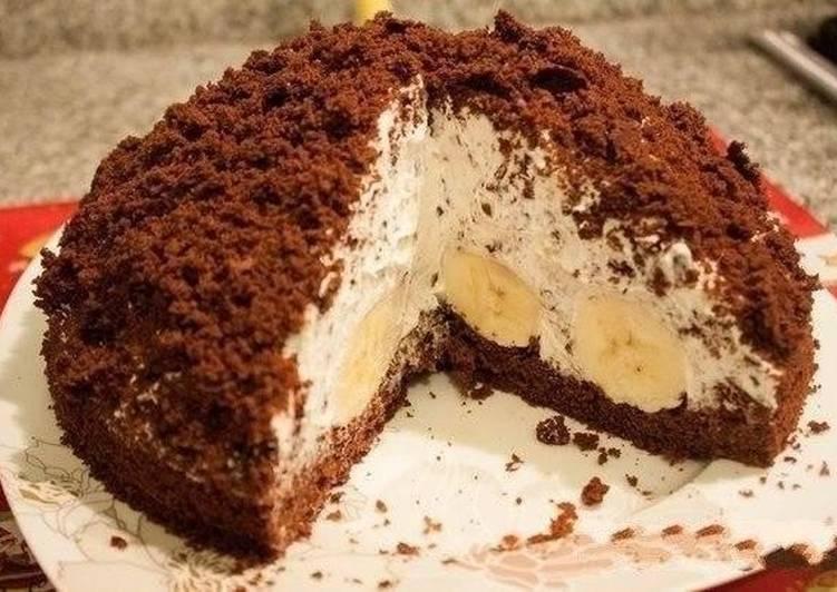 торт норка крота с бананами рецепт
