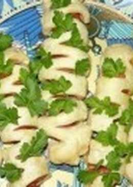 Сосиски в тесте «Нарядные» для пикника