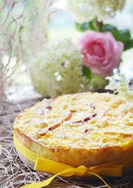 Творожный мини-пирог с нектарином