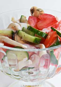 Легкий салат с морским коктейлем #чемпионатмира #Франция