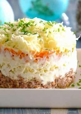 Салат «Мимоза» с сайрой - классический рецепт