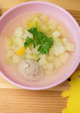 Детский овощной суп с кроликом