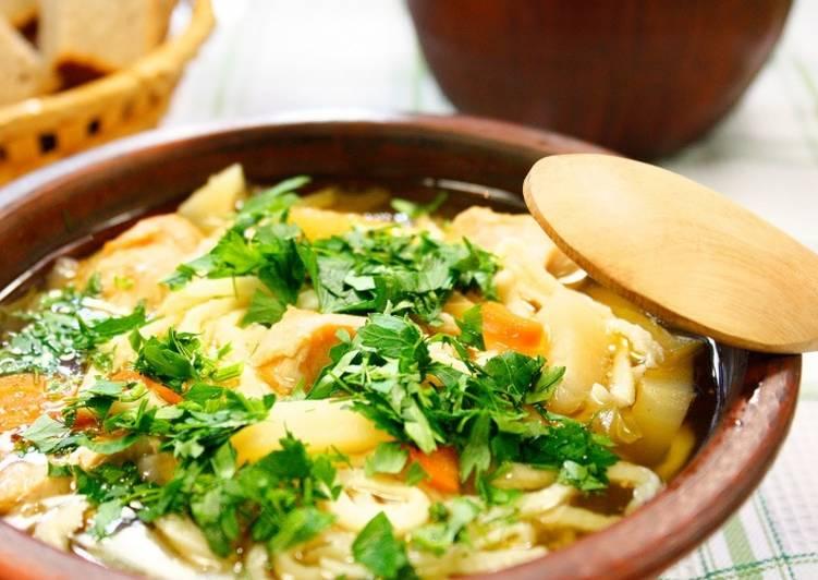 Суп из петуха, рецепт