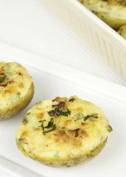 Фаршированный картофель, запечённый в духовке