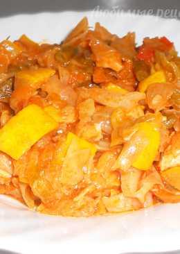 Овощное рагу с курицей и кабачками. Рецепт со стручковой фасолью