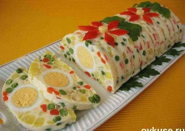 Салат-желе с овощами