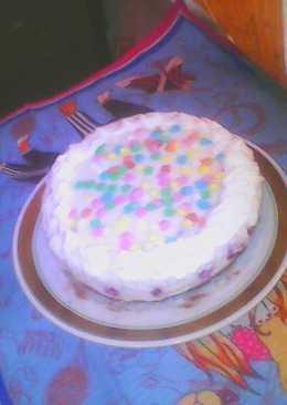 Творожный тортик с вишней