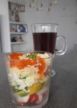 Салат - коктейль с авокадо