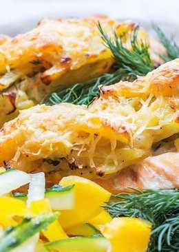 Фаршированный лосось (семга, форель) запеченный в духовке