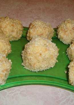 Пирожное из слоеных хлопьев в кокосовой стружке