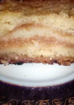 Насыпной яблочный пирог с творогом (Варшавский) в мультиварке