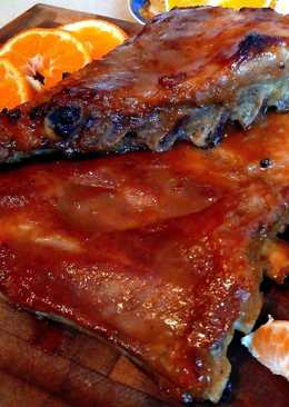 Свиные рёбрышки в мандариновом соке