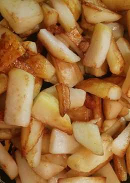 Картофель, жареный на курдючном сале