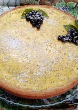 Песочный пирог со сметанной заливкой