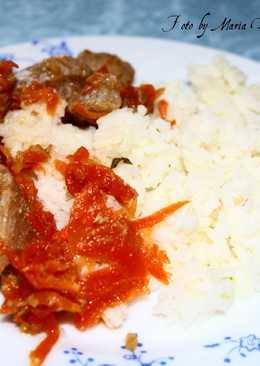 Свинина в имбирно-медовом маринаде с рисом