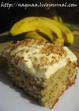 Банановый пирог с шоколадом и кокосом